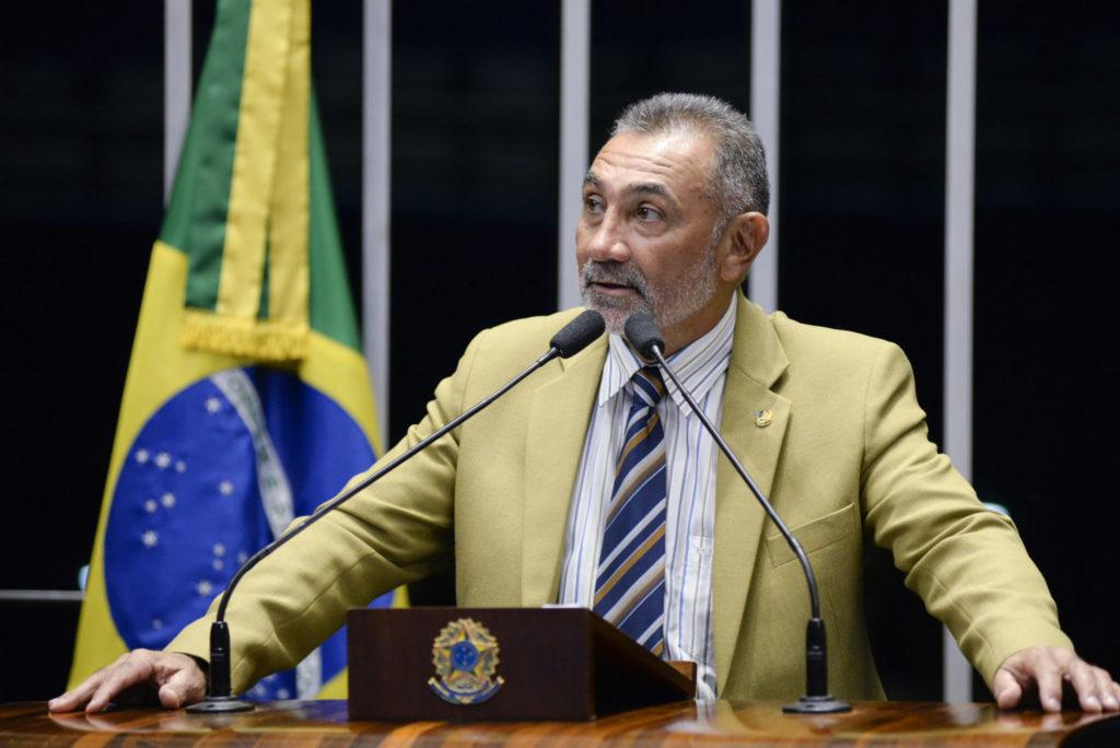 Plenário do Senado durante sessão não deliberativa. Em discurso, senador Telmário Mota (PDT-RR). Foto: Jefferson Rudy/Agência Senado